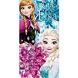 Disney Die Eiskönigin WD17862 Badetuch, Handtuch, Strandtuch, Baumwolle, Elsa, Anna, Frozen