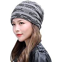 Chinashow Stilvolle Unisex-Beanie-Mütze Slouchy Baggy-Winter-Strickmützen Warm Snow Ski Cap Lochart, Kaffee