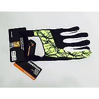santaza Premium L/XL guantes 3ea–ejercicio guantes para ciclismo, escalada, seguimiento, Crossfit, tenis, Squash Multi amarillo, hombre, color Multi Yellow, tamaño medium
