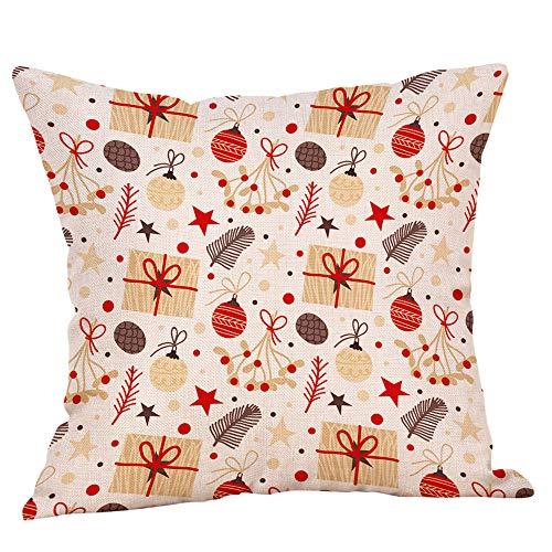 Federa cuscino,feixiang federa cuscino stampa federe 45x45 cm cuscini per divani cuscino copricuscini divano caso di natale decorazioni per la casa cuscino copertina