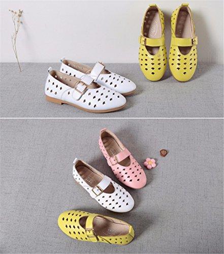 Chaussures pour enfants filles ajouré Partie Princess Mary Jane Chaussures Casual Chaussures de Princesse de l'École de soirée Partie Demoiselle Chaussures Bar Blanc