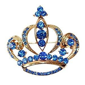 navachi 18K vergoldet Kristall Royal Crown Brosche Pins
