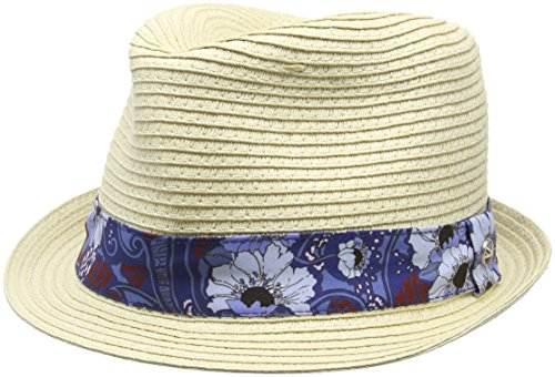 Ben Sherman Unisex Trilby Cole, Blau (Psychedelic Floral Blue 011), One Size -