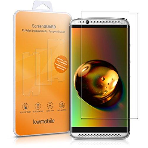 kwmobile ZTE Axon 7 Mini Folie - Glas Handy Schutzfolie für ZTE Axon 7 Mini (Kleiner als das Bildschirm)