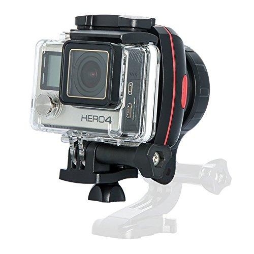 Smartphone Gimbal Gopro Zubehör Stabilisator – 1-Achsen Wearable Gimbal für Actionkamera GoPro Hero 5/4 und Smartphone 4inch bis 5.5inch by Wewow Sport X1 (Schwarz Rot)
