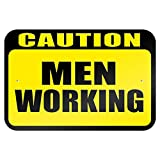 Graphics and more 22.9 x 15.2 cm 'Caution Men Working metal Sign