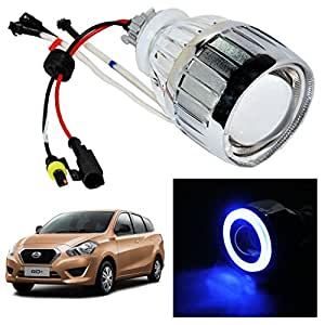 Vheelocityin Blue Ring Projector / Headlight / Headlamp For Nissan Datsun Go