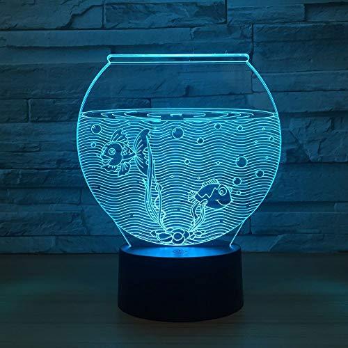 3D lampe Acryl aquarium form 3D nachtlicht LED 3D illusion USB RGB nachtlicht schreibtischlampe Wohnkultur Geschenk urlaub umwelt lampe -