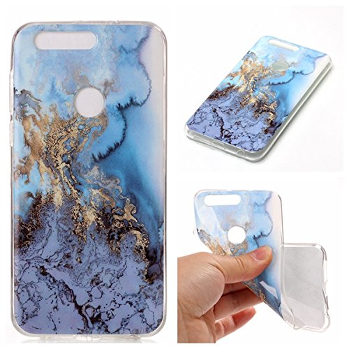 Preisvergleich Produktbild Linvei Huawei Honor 8 Hülle Case,[Marmor Muster]TPU Silicone Weich Case Schutzhülle Ultra Dünn Hülle für Huawei Honor 8-A6