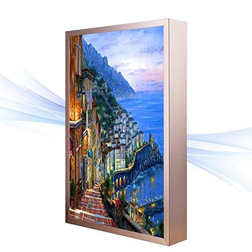 BESPD Klassik Zimmer nachttischlampe Slim Wohnzimmer Wandleuchte Treppe amerikanischen Lampe leuchtet, B), Wandmalereien 30 * 40 cm. - Antike Wandmalereien