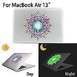 MacBook Air Aufkleber, AKPATI Haut Aufkleber Removable Leuchtender Aufkleber Skin Laptop Decal Sticker Abdeckung Abziehbild für MacBook Air 13 Zoll - Diamond Pattern