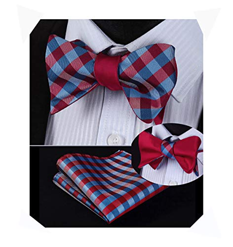 Hisdern Herrenmode Double Sided Jacquard Self Bow Tie Set Jacquard Bow Tie