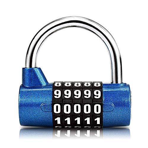 Candado de 5 dígitos con combinación reiniciable