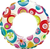 #6: Swimming Safety Ring Pvc Tube Inflatable Swim Ring - Blow Up Floating Tube Raft Tube for Swimming Pool Beach for Age 3-10 years - Color May Vary (Pack of 1) Size 20'