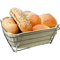 MACK Cesta de pan con bolsa, varias medidas, metal, 20cm x 20cm x10cm