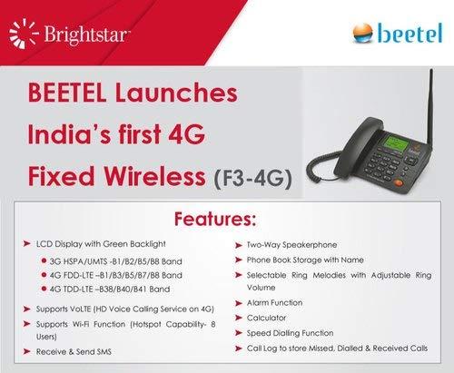 Beetel F3-4G GSM Fixed Wireless Phone