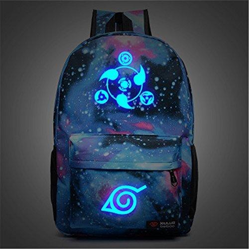 siawasey Anime Naruto Cosplay Luminous Segeltuch Rucksack Schule Tasche (16Styles) blau Naruto2 (Naruto Plüsch-puppen)