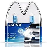 AGPTEK H7 Halogen-Scheinwerferlampe 12V 55W, superhell für Auto und Motorrad, 2 Stück