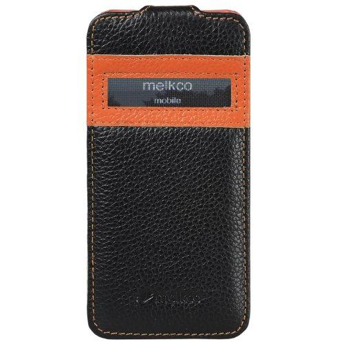Melkco Jacka type Ledertasche für Apple iPhone 6 schwarz ORANGE / SCHWARZ 15