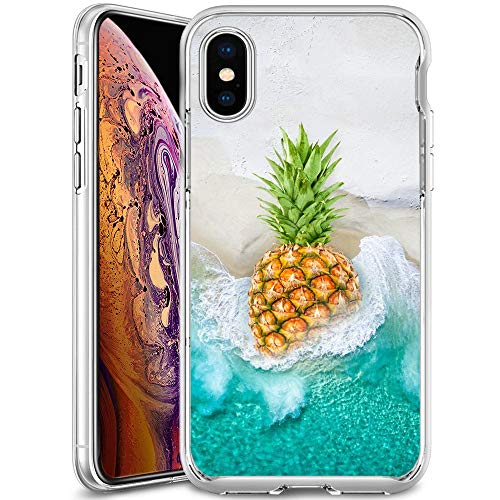 coque iphone xs transparente fine motif