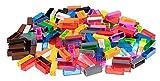 Strictly Briks - set da 180 mattoncini per costruzioni - pilastri 2x2 - compatibili con tutte le principali marche - multicolore 1
