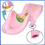 Rutschfest Baby Badesitz Aqua Ergonomische Badewanne Stuhl Stütze Newborn Rosa
