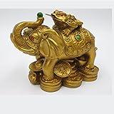 odishabazar Vastu Feng Shui Geld Frosch auf Elefant