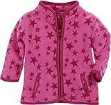 Schnizler Unisex Baby Jacke Fleece Sterne, Oeko-Tex Standard 100, Rosa (Pink 18), 56