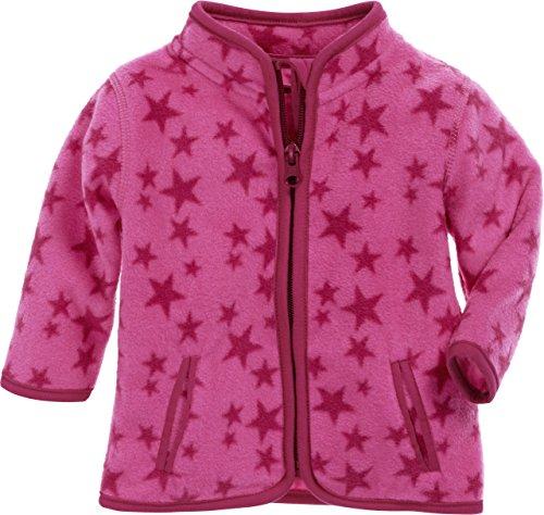 Schnizler Unisex Baby Fleece-Jacke Sterne, Oeko-Tex Standard 100 Rosa (Pink 18), 68