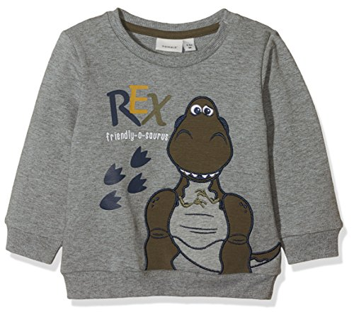 NAME IT Baby-Jungen Sweatshirt 13155069 Grau (Grey Melange) 62
