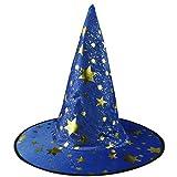 OYSOHE Halloween Show Spielt Magischen Hut Sterne Hut der Hexe Halloween Kostüm Zusatz (Blau,Einheitsgröße)