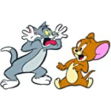 Bhai Please Tom and Jerry Wooden Fridge Magnet (Pack of 1) Fun Comic Character Gift and Decoration