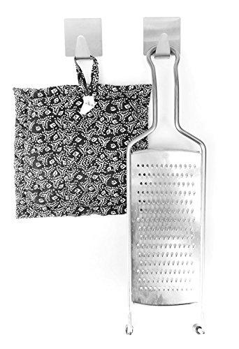 2 Stk. Permanent selbstklebender Wandhaken - Adhesive permanent hook - Haken Kleiderbügel Badezimmer Küche Aufhänger Envelop Hand Tuch Haken Wand Haken Edel Stahl