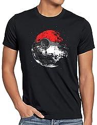 style3 Poké Death T-Shirt Homme death estrella de la mort star ball