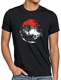 style3 Poke Death T-Shirt Herren Death Poké Todesstern Star Ball