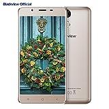 Smartphone in Offerta, Blackview P2 Lite 4G Android 7.0 Telefoni Cellulari Dual SIM, 5.5 pollici FHD schermo, 3GB RAM + 32GB ROM, fotocamera 13MP, batteria 6000mAh, Fingerprint, oro