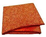 PEEGLI Orange Indisch Frau Sari Blatt Design Dress
