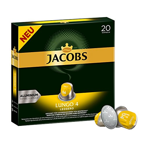 Jacobs Kapseln Lungo Leggero -Intensität 4 - 200 Nespresso (R)* kompatible Kaffeekapseln aus...