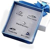 Ohrringe Set für Montag bis Freitag Fashion Design sinnvolle Geschenke für Liebhaber preisvergleich bei billige-tabletten.eu
