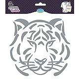 Unbekannt Aladine–41433–Aufkleber–Textil Tiger Glitter