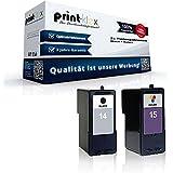 2 x cartuchos de tinta compatible para Lexmark 14 15 X 2600 X 2620 X 2630 X 2650 X 2670 Z2300 Z2310 Z2320 Sparset (Todos Los Colores) 18C 2090 + 18C 2110 Negro + Color Lexmark 14 + Lexmark-15