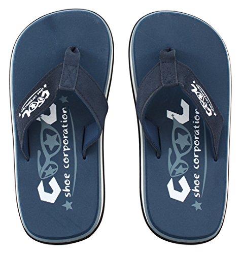 Cool Shoes Original Pi DARK DENIM Flip Flops Sandalen Zehentrenner Strandlatschen Badeschlappe Blau