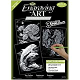 Royal & Langnickel Silver Engraving Art A4 Silver Sea Life Designed Painting Set (Pack of 3)