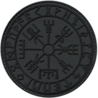 2AFTER1 Vegvisir Viking Compass ACU Subdued Norse Rune Morale Tactical PVC Rubber Fastener Patch