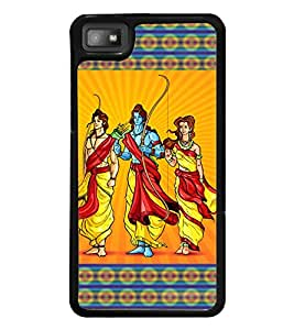 Fuson Premium 2D Back Case Cover Lord Rama With Brown Background Degined For Blackberry Z10