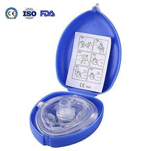 Aurelius-Tasche CPR-Maske für Erste-Hilfe-Reanimation-Gesichts-Schild-Maske, Einzelnutzung mit CE & ISO & FDA genehmigt (Blue Box) - Reanimation Tasche