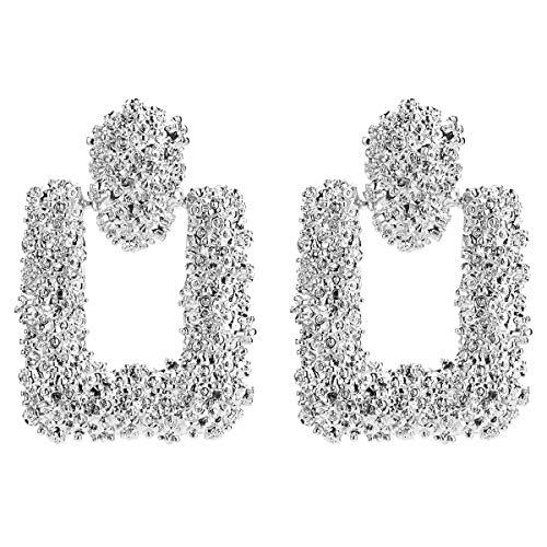2019-1 Paar Trend Fashion Ohrringe Frauen Retro Metall Ohrringe geometrische gro? Anh?nger Ohrringe
