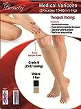 #10: Sira Beauty Antiskid Varicose Veins Socks, Grade-Ii 5Cm Below Knee, Medium Pressure (23-32 Mmhg) Unisex Socks Reduces Leg Pain & Swellings (Xl, Beige)