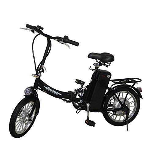 """Elektro Klapprad 16\"""" 41cm Pedelec ALU-FELGEN Elektrofahrrad Ebike E-Bike Fahrrad (Schwarz)"""