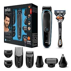 Braun MGK3085 9-in-1 Multi-Grooming-Kit, Barttrimmer und Haarschneider, schwarz/blau